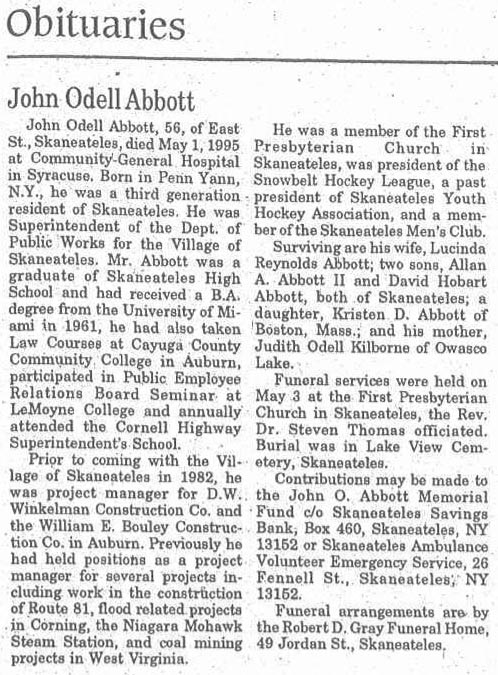 John Abbott Obituary